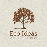 Eco ideas. Over pattern background vector illustration Stock Photos