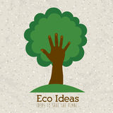 Eco ideas. Over pattern background vector illustration Stock Photo