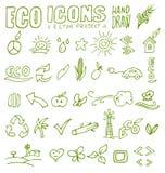 Eco ikon ręki remis 4 Obrazy Royalty Free