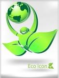 Eco Ikone Lizenzfreies Stockfoto