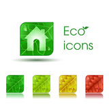 Eco Ikonen Lizenzfreie Stockfotografie