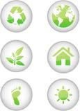 Eco-Ikonen Lizenzfreie Stockfotografie