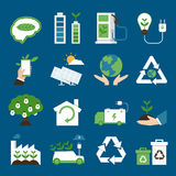 Eco Ikonen Lizenzfreies Stockfoto