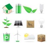 Eco Ikonen eingestellt Stockbild