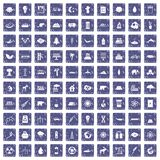 100 eco Ikonen stellten Schmutzsaphir ein Stockbild