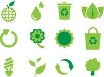 Eco Ikonensatz Lizenzfreies Stockfoto