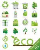 Eco Ikonenset Lizenzfreies Stockfoto