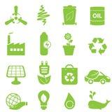 Eco Ikonenset stock abbildung