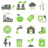Eco ikony Obrazy Stock