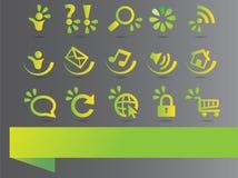 Eco ikony i elementy Obrazy Royalty Free