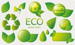 Eco ikony i elementy Obraz Stock