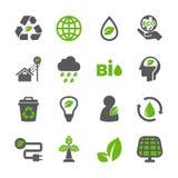 Eco ikony set royalty ilustracja