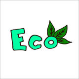 Eco illustration Royalty Free Stock Images