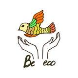 Eco illustration Royalty Free Stock Photography