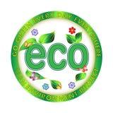 Eco Ilustracja Zielona Środowiskowa Obrazy Royalty Free