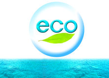 Eco image. With a leaf and sea Stock Image