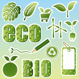 Eco image set Stock Photos