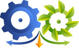 Eco industrial logo Royalty Free Stock Image
