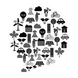Eco industry design Royalty Free Stock Photo