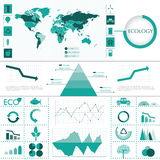 Eco info graphic Stock Image