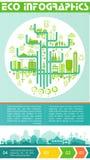 Eco infographic και εμβλήματα επιλογής Στοκ εικόνες με δικαίωμα ελεύθερης χρήσης