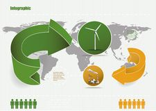 Eco infographic Fotografie Stock