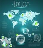 Eco infographic Стоковая Фотография