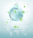 Eco infographic Стоковое Изображение