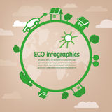 Eco infographic Fotografia Stock