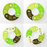 Eco infographic, circle arrows, 3, 4, 5, 6 steps. Layout for your options or steps. Abstract template for background Stock Photo