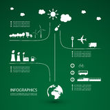 Eco Infographic Design Royalty Free Stock Photo