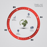 Eco Infographic Design Template Stock Images