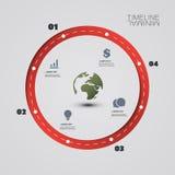 Eco Infographic designmall Arkivbilder