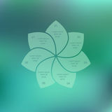 Eco infographic. Flower petals on a green background. Vector illustration for design website, posters, brochures Royalty Free Stock Photos