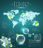 Eco infographic Stock Photography