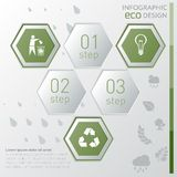 Eco infographic mall Royaltyfri Bild