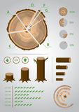 Eco infographic. Template set for info-graphics ecological and a timber industry Royalty Free Stock Images
