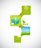 Eco Infographic Templates for Business Vector Stock Photo