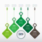 Eco infographics szablon Przyrost autobus i rozwój royalty ilustracja