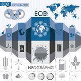Eco informationsdiagram vektor illustrationer
