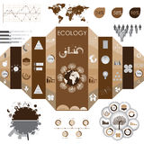 Eco informationsdiagram stock illustrationer