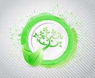 Eco ink illustration design Royalty Free Stock Images