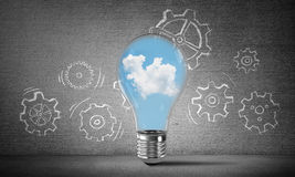 Eco innovations concept by means of lightbulb. Stock Photography