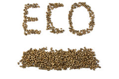 Eco inscription Royalty Free Stock Photography