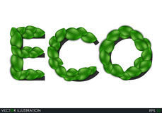 Eco the inscription of the leaves. Stock Images