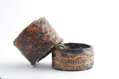 Eco Jewelry bracelet in paper mache Stock Image