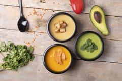 Eco karmowi zbiorniki z właściwym odżywianiem, zrównoważona dieta gubić ciężar zdjęcie stock