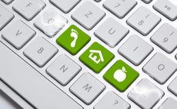 ECO keyboard Royalty Free Stock Image