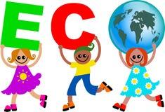 Eco Kinder stock abbildung