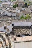 Eco, Klasyczny dachówkowy dach, Chinchon, Hiszpański magistracki sławny fo Zdjęcie Royalty Free